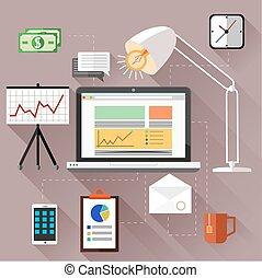 SEO optimization, programming process and web analytics...