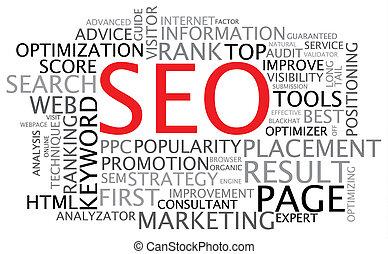 seo, -, optimization search engine, cartaz