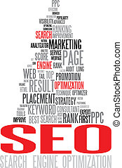 seo, -, optimization search engine, cartaz
