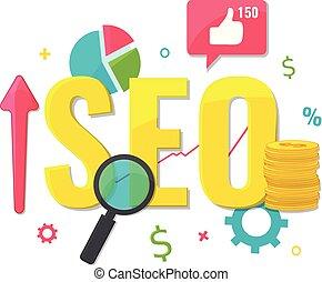 SEO optimization, web analytics concept.