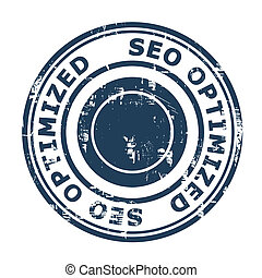 SEO Optimized concept stamp