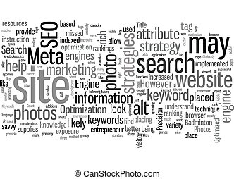 SEO Photo Opportunities text background wordcloud concept