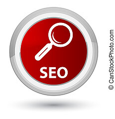 Seo prime red round button