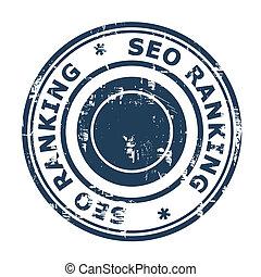 SEO ranking concept stamp