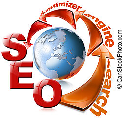 SEO red arrow - Search Engine