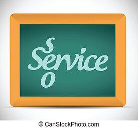 seo, scritto, messaggio, lavagna, servizio