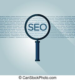 SEO (search engine optimization) magnifying glass