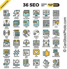 SEO - search engine optimization icons
