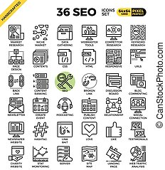 SEO - search engine optimization icons - SEO - search engine...