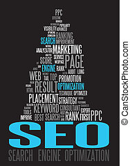 SEO - Search Engine Optimization poster for your web