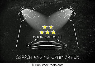 SEO, search engine optimization, spotlight design -...