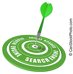 SEO - search engine optimization - target and dart symbol of...