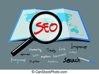 SEO Search Engine Optimization. vector illustration.