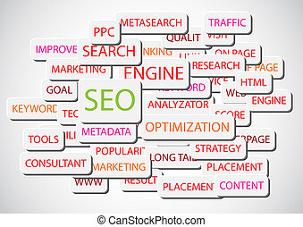 SEO - Search Engine Optimization vector background...