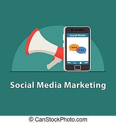 SEO Social media marketing in smartphone
