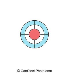 SEO target bullseye symbol, Successful Business