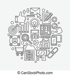 SEO vector illustration
