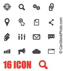 seo, vector, set, grijze , pictogram