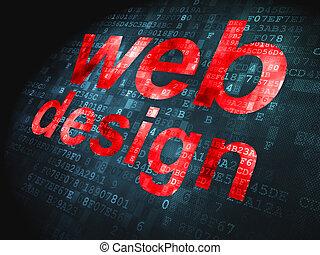 seo, web, разработка, concept:, web, дизайн, на, цифровой, задний план