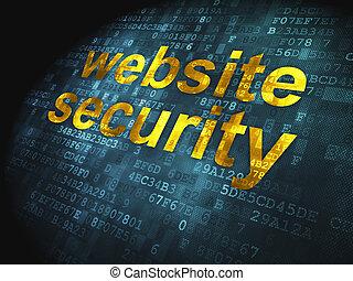 Digital footprint website cyber track 3d rendering shows