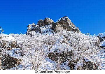 Seoraksan mountains in winter, Korea.