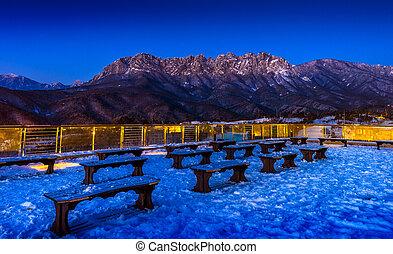 Seoraksan mountains in winter, South Korea.