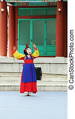 seoul., 伝統的である, 韓国語, 南, パフォーマンス