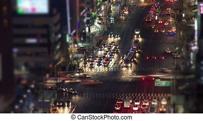 Seoul City 134 - 134) Time lapse of traffic and architecture...