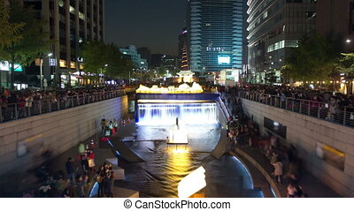 Seoul City 27 - 27) Time lapse of people watching the...