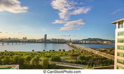 Seoul City Daytime Waterfront P