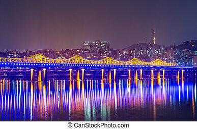 Seoul city in South Korea