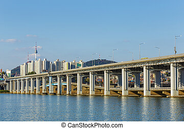 Seoul city skyline in South Korea