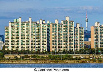 Seoul cityscape in South Korea