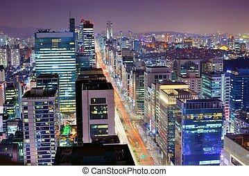 Gangnam District of Seoul, South Korea.