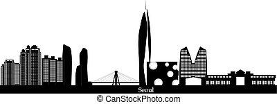 seoul korea city skyline