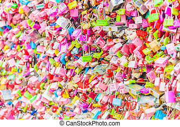 SEOUL, SOUTH KOREA - October 29 : The Love Key Ceremony at N Seoul Tower on October 29 ,2015 in Seoul City, Korea. Located on Namsan Mountain in the center of Seoul City.