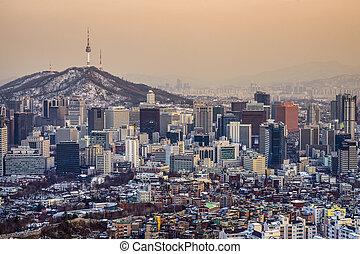 Seoul, South Korea Skyline - Seoul, South Korea City...