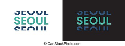 Seoul word text in modern minimal style.