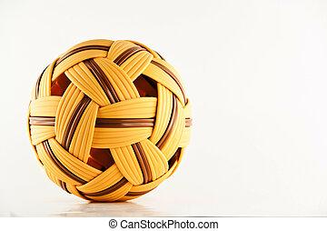 Sepak takraw ball asian sport isolated on white background