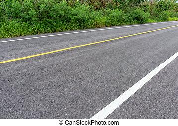 separação, linhas estrada, textura, asfalto