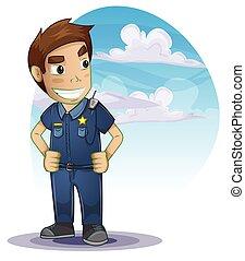 separado, camadas, policial