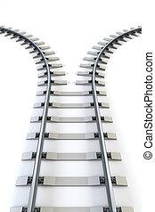 separar, ferrocarril