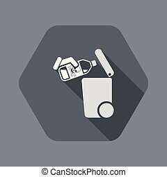 Separate waste collection icon - Flat and isolated vector ...