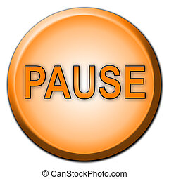 Separated Pause Button - Separated rounded color button