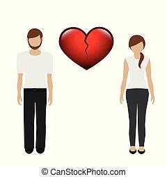 separation between man and woman character