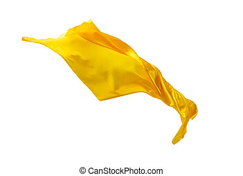 separato, fondo., elegante, liscio, giallo, stoffa, bianco, trasparente