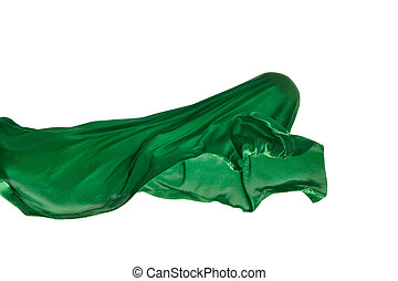separato, fondo., elegante, liscio, stoffa, verde bianco, trasparente