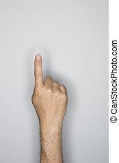 sepia の 調子, ジェスチャー, 指すこと, 手