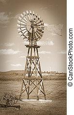 Sepia antique windmill