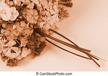 sepia bouquet